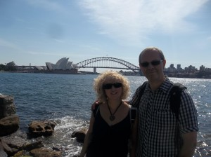Sue and her Dad in Sydney!